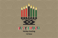 Kwanzaa2 Greeting Card (55x85)